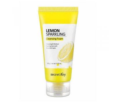 Lemon Sparkling Cleansing Foam Secret Key Пенка для умывания с экстрактом лимона, 120 мл