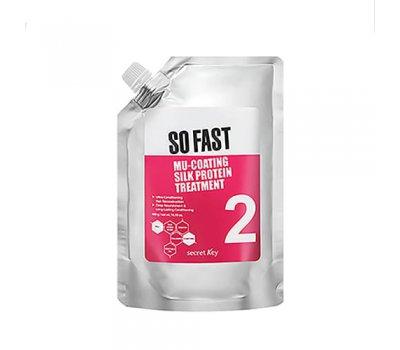 Маска для поврежденных волос с эффектом ламинирования Secret Key Mu-Coating Silk Protein Treatment, 480 мл