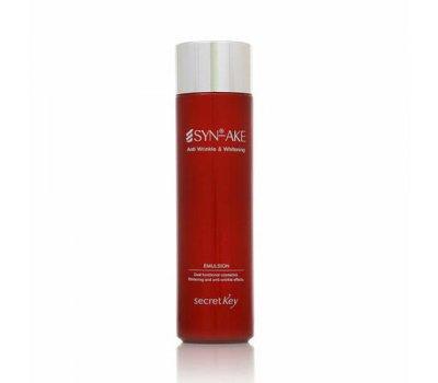 Secret Key Syn-Ake Anti Wrinkle and Whitening Emulsion Антивозрастная эмульсия для лица с пептидом, 150 мл
