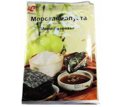 Корейская хрустящая сушеная морская капуста со вкусом лука Ajikura