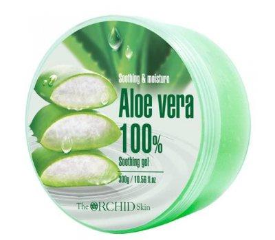 Многофункциональный гель для тела с алоэ вера Aloe Vera Soothing Gel 100% The Orchid Skin, 300 гр