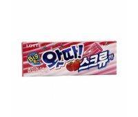 Жевательная резинка с клубникой и яблоком WHATTA Big Bubble Gum Strawberry & Apple LOTTE, 23 гр